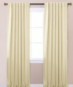 """JC Penney Home Collection - Back Tab Thermal Curtain """"Ivory""""  84"""" 1 panel"""