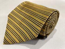 *NWT* Tommy Hilfiger Men's Gold Striped Silk Neck Tie $98