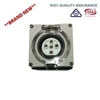 5 Pin 20 Amp 3 pole phase Socket Outlet IP66 Weatherproof Industrial Only