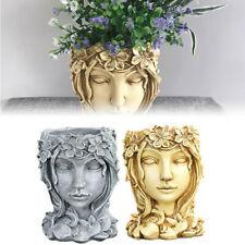 Succulent Plant Flower Pot Goddess Lady Portrait Head Planter Vase Garden Decor