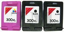 3 Cartuchos De Tinta Compatible 300 XL Para HP Deskjet F2420 Negro Color Non Oem