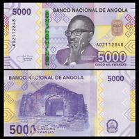 Angola 5000 Kwanzas, 2020, P-New, Prefix A, Polymer, Banknote, UNC