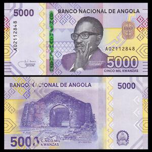 Angola 5000 Kwanzas, 2020, P-New, Prefix A, Banknote, UNC