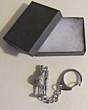 F) KEY-RING PEWTER ROMAN LEGIONARY ENSIGN STANDARD EAGLE BEARER AQUILA AQUILIFER