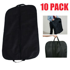 "10pcs Black 40"" Large Suit Carrier Garment Cover Travel Bag Foldable Washable UK"