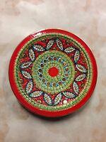 piatto in ceramica Deruta decorato in oro zecchino produzione artigianale