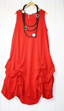 Moonshine ITALY ROBE T 46 48 50 Look Rouge Froncé Neuf