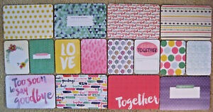 """'BETTER TOGETHER' FIRST/LAST PROJECT LIFE CARDS BY BECKY HIGGINS - 6""""X4"""" & 3""""X4"""""""