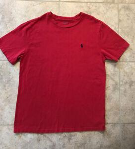 Polo Ralph Lauren Boys' Short Sleeve T-Shirt/Tee Red Size L