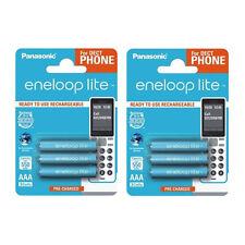 6 x Panasonic eneloop lite AAA 600mAh Rechargeable Ready Batteries DECT PHONE