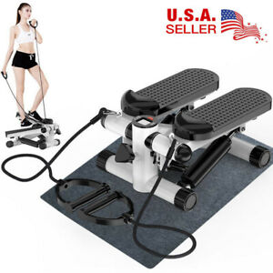 Mini Fitness Air Climber Stair Stepper Aerobic Stepp Machine W/Resistance Bands