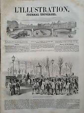 L'ILLUSTRATION 1848 N 261 ASPECT DU Bd DES ITALIENS DANS LA SOIREE DU 21 FEVRIER