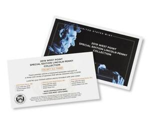 2019 W Proof Lincoln Cent Envelope and Collection Card (penny not included)