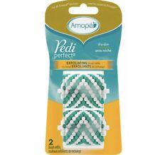 Amope Pedi Perfect Exfoliating Brush Refills 2 Pack For Dry Skin