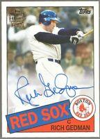 2020 Topps Archives Fan Favorites Auto #FFA-RGE Rich Gedman Boston Red Sox