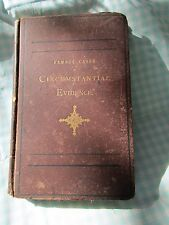 Famous Cases Circumstantial Evidence by Samuel N Phillips 1873! See Title Page!