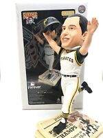 Bill Mazeroski Newspaper Base Bobblehead. Pittsburgh Pirates Bobble. Orig Box