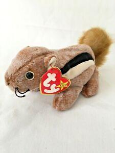TY Beanie Baby - CHIPPER the Chipmunk (6.5 inch) - Plush Stuffed Animal Toy