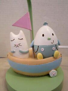 Cocalo nursery baby room lamp cat & humpty dumpty in boat. Table
