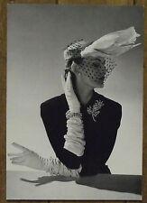 Carte postale Fath,modele chapeau,1951,haute couture,mode  postcard