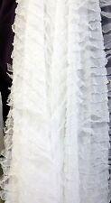 """Sheer White Nylon  1"""" RUFFLE  fabric 56"""" wide"""