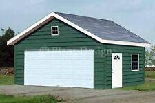 20 x 20 Two Car Garage / Building Blueprint Plans Plans,  Design #52020