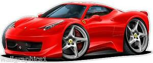 Ferrari 458 Italia 4ft long Wall Graphic in any color