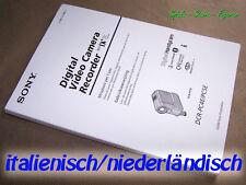 Sony DCR-PC4E / PC5E Manual, Bedienungsanleitung Itl NL