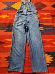 Vintage Washington DEE CEE SANFORIZED Blue Denim OVERALLS Sz 30x32
