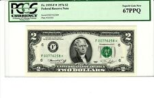 $2 dollar bills Federal Reserve Notes Ranging from 1976 1995 2003 2009 2013 50