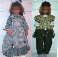 """smock Roper Dress Overdress & Overalls Pattern fits 30 - 32"""" Himstedt dolls"""