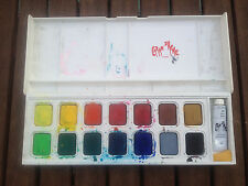 Caran D'ache Gouache Box 15 Watercolor Paints  | 15 Wasserfarben Set | gebraucht