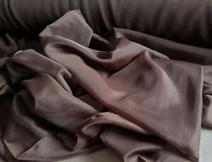 """Brown 116"""" wide sheer Voile by yard, wedding arbor decoration, free swatches."""