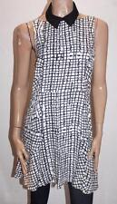 SOMETHING ELSE by Natalie Wood Black White Collar Dress Size 12/M BNWT #SO02