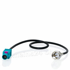 Antennen Adapter Kabel Fakra Z Stecker (m) -> F Stecker (m) Antenne
