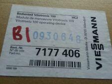 VIESSMANN 7177 406 Control Panel Vitotronic 100 HC1 7177406