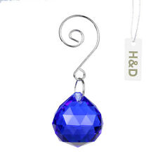 1Pcs 30Mm Royal Blue Crystal Chandelier Ball Healing Prism Pendant Wedding Decor
