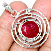 Ruby 925 Sterling Silver Pendant Jewelry AP235552 XGB