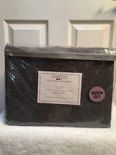 Wulfing Dormisette Mid Grey Heathered Flannel Sheet Set - Queen