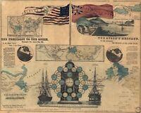A4 Ristampa Di Mappa 1856 Telegraph il Grafico Trinity Bay Valentia