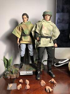 hot toys star wars Endor Luke and Leia Skywalker 1/6