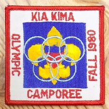 Vintage Boy Scout Patch Badge Kia Kima Olympic Camporee BSA Fall 1980