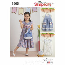 Simplicity Sewing Pattern Child's Dresses & Purses Size 3 - 8 Years 8565