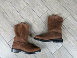 USA made RED WING vintage PECO roper boots 8 3E  brown cowboy 1105