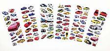 6 sheets 3D Stereoscopic cartoon puffy pvc cars stickers lot kids love Xmas gift