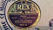CASANI CLUB ORCH MALOLA &  MAORI SONG OF GOOD-BYE REX 8471