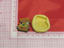 Pirate Treasure Chest Silicone Push Mold Polymer Clay Resin Wax mould A32 Candy