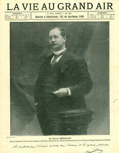 Publicité ancienne document Mr Daniel Mérillon Tir de France 1900 issue magazine