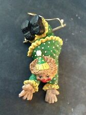 "Resin CLOWN on trapeze Christmas Ornament Decor 5"""