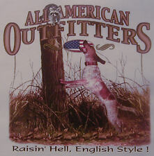 RAISIN' HELL ENGLISH STYLE HOUNDS .... COON HUNTING COONDOGS SHIRT #526-E